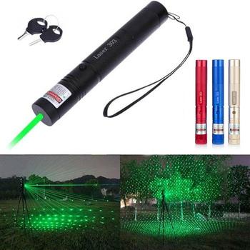 303 532nm zielony celownik laserowy laserowy wskaźnik wysokiej potężny polowanie urządzenie laserowe regulacja ostrości (bez baterii)