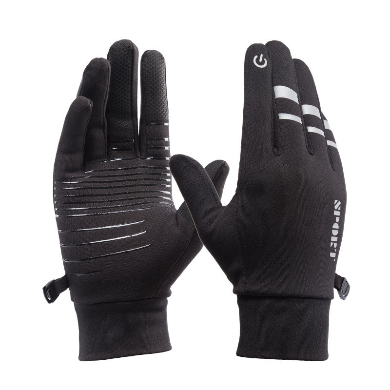 Outdoor Riding Waterproof Gloves Men Women Winter Touch Screen Windproof Mittens Glove Female Sports Warm Velvet Cycling Gloves