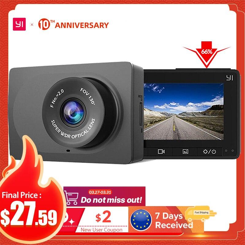 Автомобильный видеорегистратор YI Compact Dash Camera | Разрешение 2.7K | Широкий угол обзора 130° |