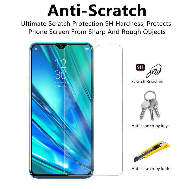 9H Protective Glass Tempered Glass for Realme 6 5i 3i 3 2 Pro 1 Screen Protector Mobile Phone Film for Realme Realmi C2 C1 Glass