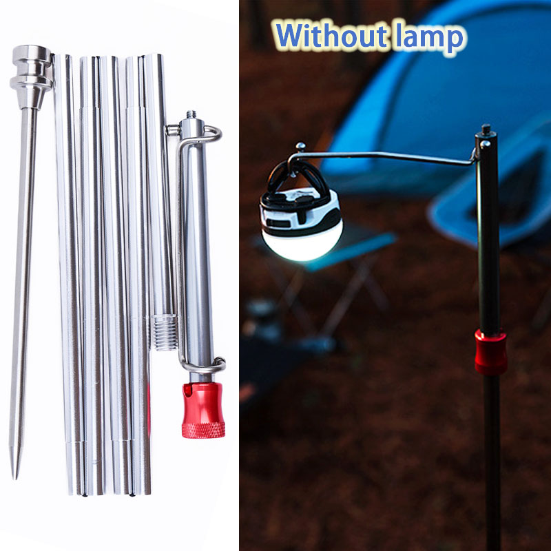 Without Lamps Outdoor Camping Mini Collapasible Lantern Stand Pole Selfie Stick Portable Fishing Lamp Hook Rack