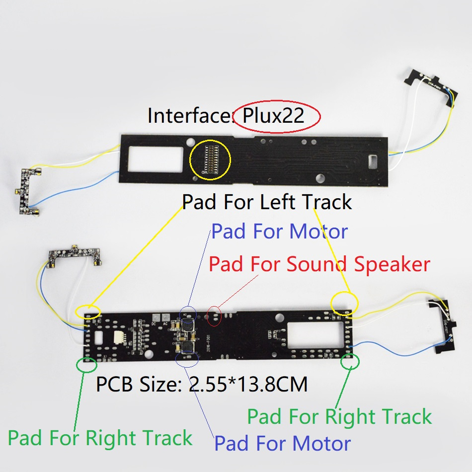 DCC Adapter Board For Locomotive To Upgrade To With Sound And Light Digitization To Dcc Train Build With Plux22 Interface 860055