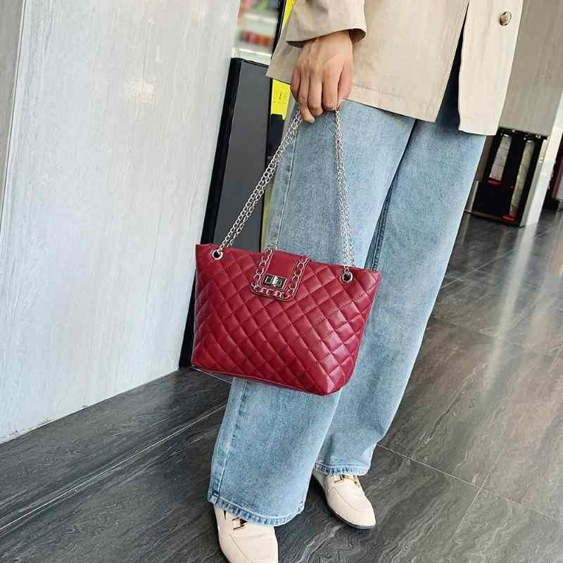 ใหม่แฟชั่นกระเป๋าถือสี PURE หนังนุ่มผู้หญิงกระเป๋าสะพายกระเป๋าเดินทางขนาดใหญ่ความจุ Handba Leisure ช้อปปิ้ง