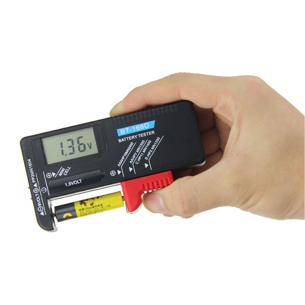 BT-168D портативный цифровой тестер емкости батареи ЖК-дисплей для 9 в 1,5 В напряжение AA AAA ячейка C D устройство для проверки батарей диагностиче...