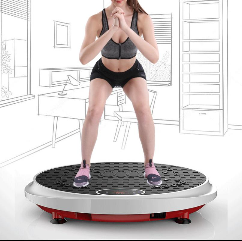 Exercise Fitness Slim Vibration Machine Trainer Plate Platform Body Shaper Blueteeth Connecting Remote Control Slimming Machine