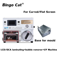 3 in 1 A5 Curved LCD Screen Vacuum Laminating Machine for Samsung S6 S6+ S7 S8 S8+ Edge LCD OCA Repair bubble remover UV lamp