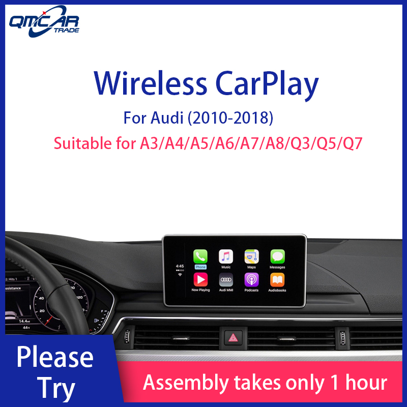 QMCAR Wireless Apple CarPlay for Audi 2010-2018A3/A4/A5/A5/A6/A7/Q3/Q5/Q7 With 3G+MMI Android Auto /Car play Airplay Multimedia image