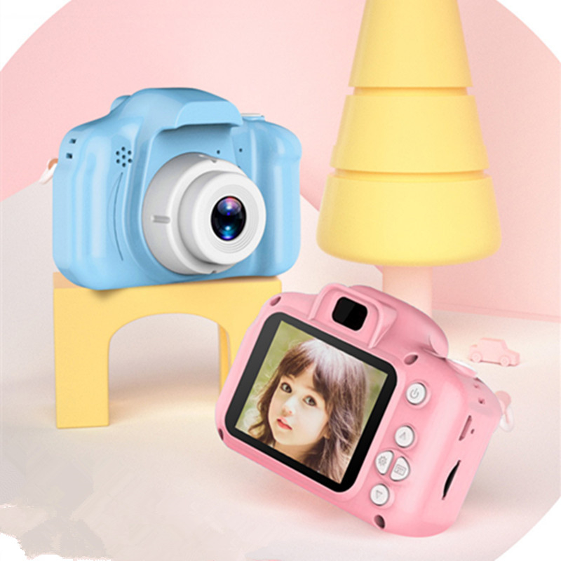 Kids Cameral Toys Mini Digital Camera Toys For Kids 2 Inch HD Screen Chargable Photography Props Cute Baby Child Birthday Gift