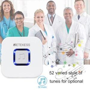 Image 5 - Retekess bakıcı çağrı cihazı kablosuz SOS çağrı düğmesi hemşire çağrı uyarısı hasta yardım sistemi ev yaşlı hasta