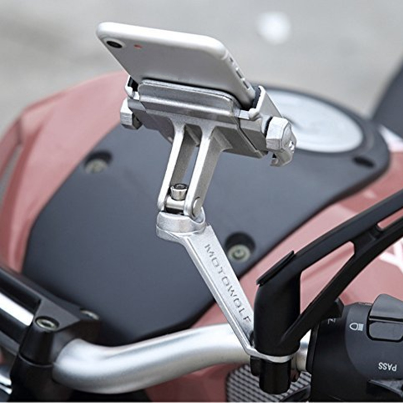 Universal Motorcycle Mobile Phone Holder 360 Rotation Bike Scooter Phone Mount For Iphone Samsung XIAOMI Mobile Bracket