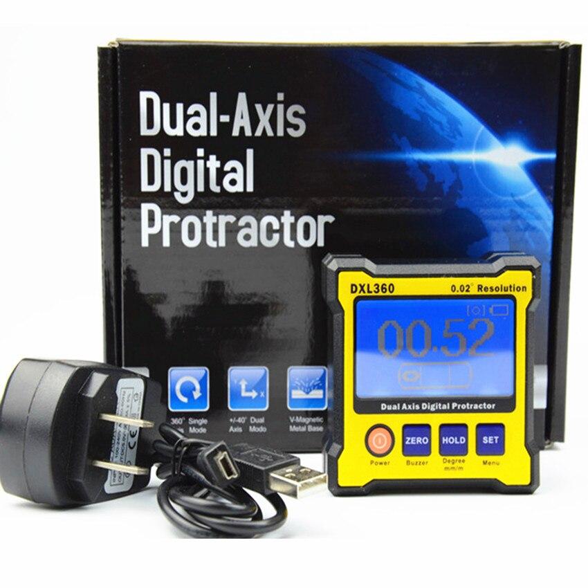 Новая модель DXL360/S/C V2 Цифровой угломер и уровень измерения двухосевого уровня коробка угол линейка измеритель высоты - Цвет: DXL360