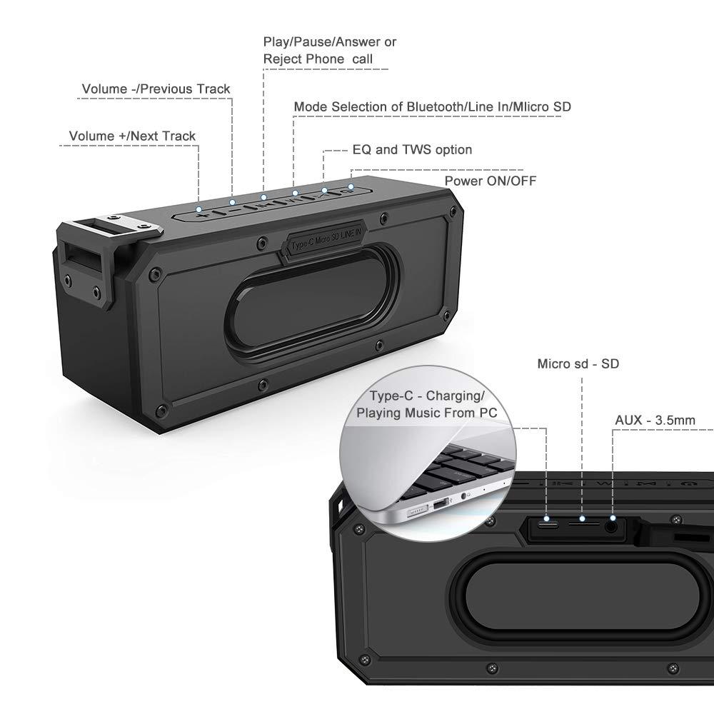 Image 5 - IP7X 40W 5.0 Bluetooth Speaker Portátil À Prova D Água Orador  Coluna Subwoofer Super Bass 2.1 Soundbar Sistema de Som Boombox  MúsicaAlto-falantes portáteis