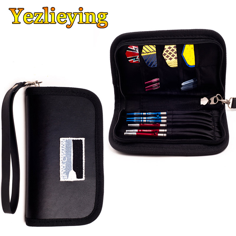 Super Darts And Accessory Darts Case/Wallet-Black-Durable-Holds 2 Sets