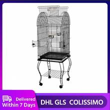 Popular High Quality Large Parrot Macaw Canary Finch Breeding Bird Metal Cage With Open Skylight Bird Supplies Pet Products HWC