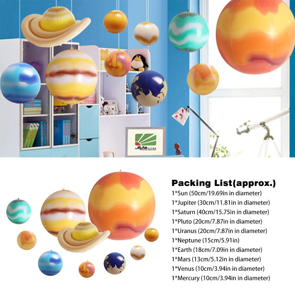 Inflatable 1 Set Solar System Nine Planets Model Kit Astronomy Science Project Planetarium Worldwide Education For Child