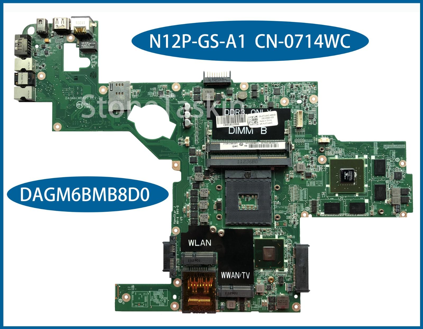 Лучшее соотношение цена/качество CN-0714WC для Dell XPS L502X Материнская плата ноутбука DAGM6BMB8D0 N12P-GS-A1 SLJ4N 100% полностью протестирована Бесплатная дост...