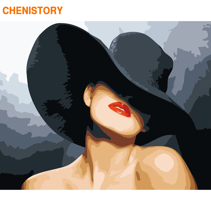 CHENISTORY Frame Women Figure Picture DIY Painting By Numbers For Adults Wall Art Picture By Numbers Canvas Painting Home Decors