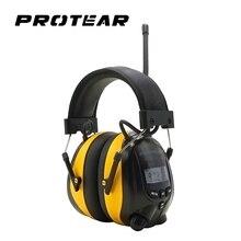 Protear NRR 25dB ochronników słuchu AM FM Radio nauszniki elektroniczna ochrona słuchu strzelanie nauszniki Radio ochrona słuchu