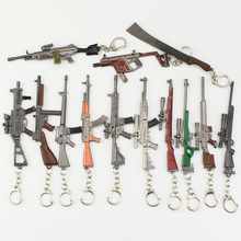 2019 Game PUBG Weapon Gun Model Keychain 98K AWM VSS Key Holder Alloy Chain Cosplay Jewelry Size 12cm Male gift key chains