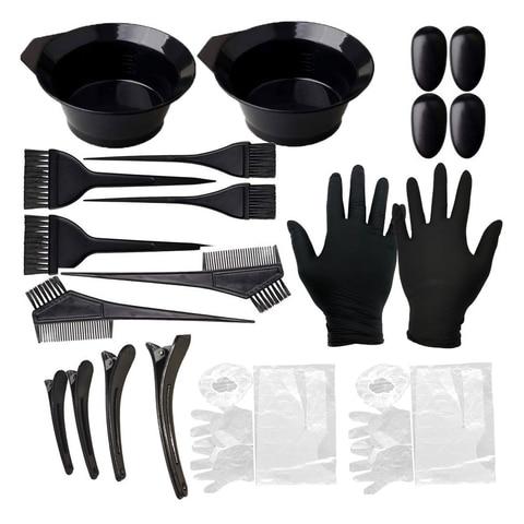 Escovas de Cabeleireiro Tigela de Plástico Tintura de Cabelo Cor do Cabelo Profissional Combo Kit Salon Tint Tool 22 Pçs – Set