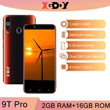 Xgody 9t pro 3g smartphone android 2gb 16gb telefones celulares quad core duplo sim gps 2800mah celular desbloquear 5mp câmera novo 2020
