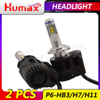 P6 2X 3000K H4 LED LED H7 H11 H8 HB3 LED Auto Car Headlight 55W 8000LM High Low Beam Bulb Automobile Lamp Light bulbs