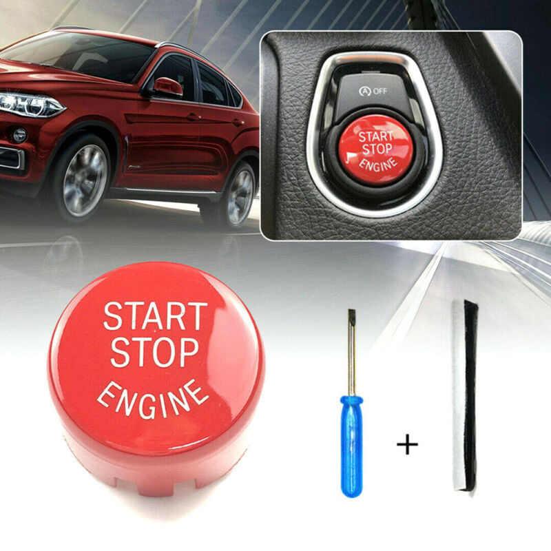 Dla BMW F20 F30 F10 F01 F25 trwałe czerwone Start Stop silnika pokrywa przycisku przełącznika dla X5 F15 2014-2018 dla X6 F16 2015 2018
