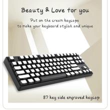Кремовые клавиши 104/61/87 для механических клавиатур pervious