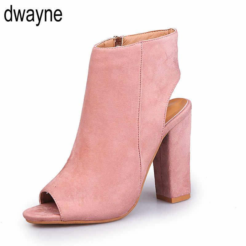 Bayan yüksek topuklu ayakkabılar rahat parti platformu pompaları Peep Toe ayakkabı bayan artı büyük büyük boy 2019 hjm8