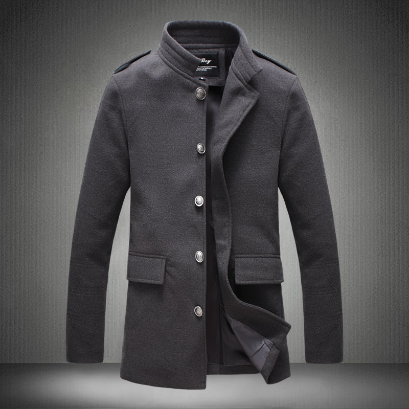 Men 39 s single breasted woolen coat men 39 s autumn new large size windbreaker men 39 s fashion solid color business casual long coat in Trench from Men 39 s Clothing