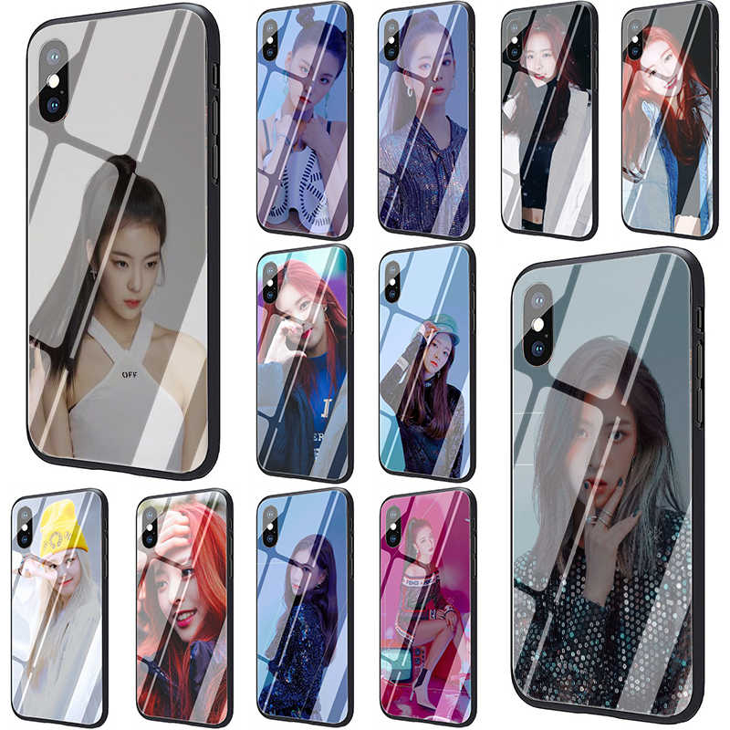 ITZY K Tempered Glass phone cover case for iphone 5 5s SE 6 6s 7 8 Plus X XR XS 11 pro Max