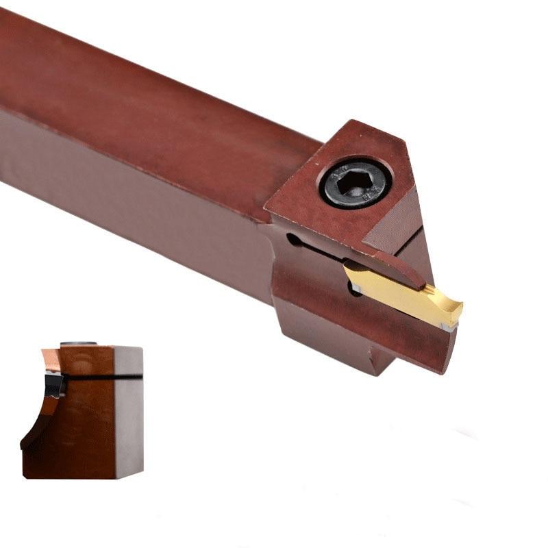 7.9 mm 0.033 0.375 Projection 0.3125 9.5 mm 2.54 mm 0.100 Shank Diameter 0.84 mm Minimum Bore Diameter Maximum Bore Depth 7.9 mm 0.310 Groove Width Micro 100 QRR-033-6X Quick Change Retaining Ring Grooving Tool 2 Solid Carbide Tool
