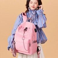 2019 New Style Junior High School STUDENT'S School Bag Women's Korean style High School Campus INS Wind Backpack Vintage Sense G