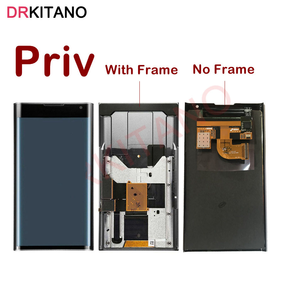 """For 5.4"""" BlackBerry Priv LCD Display Touch Screen Digitizer Assembly For Blackberry Priv LCD With Frame+Slider Flex Replacement(China)"""