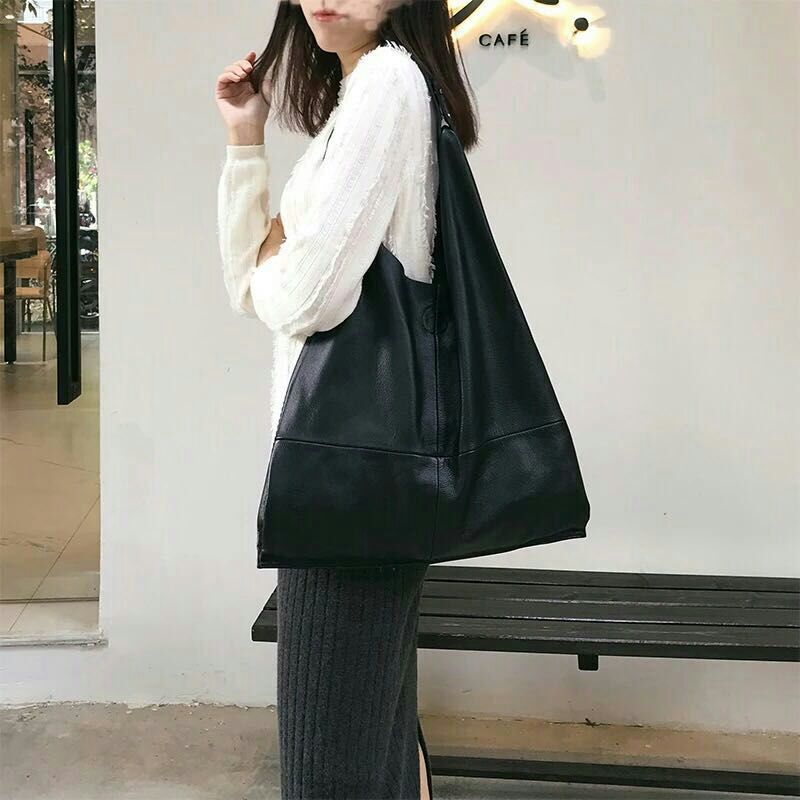 L001-L049 Factory Wholesale Handbag Luxury Brand Leather Bag Soft Shoulder Bag First Layer Cowhide Women's Casual Shopping Bag