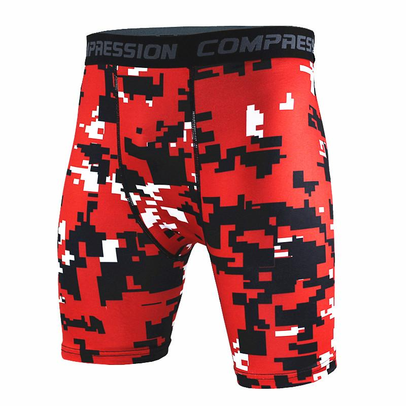 Newest Fitness Shorts Men Tights Compression Shorts Bermuda  Camouflage Short Fitness Men Cossfit Bodybuilding Tights Camo Short