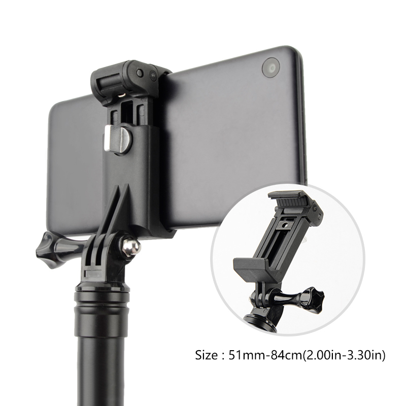 NEW Mobile Phone Clip Mount Bracket Selfie stick monopod Holder for GoPro iPhone Xiaom Samsung Huawei Tripod Adapter Accessories