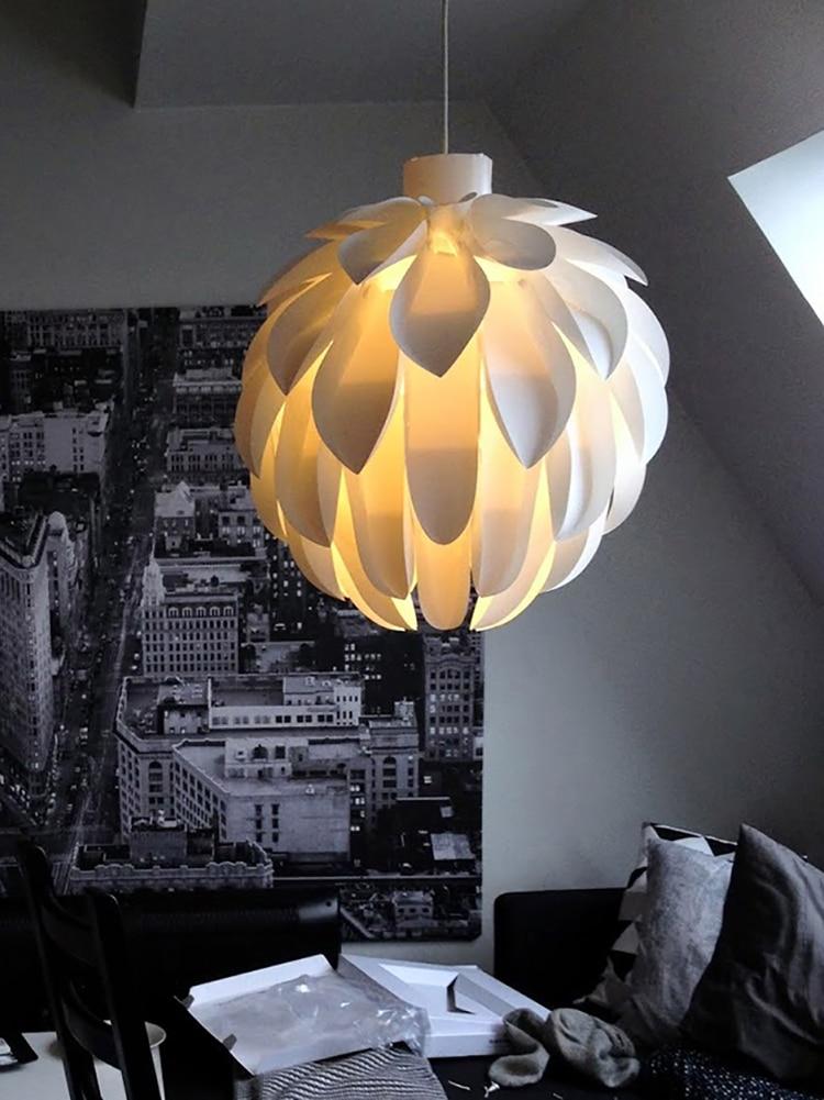 Скандинавское искусство Белый лепесток светодиодный Люстра используется для 110 В/220 В Современная гостиная освещение столовая лампа