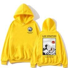 Newest Japanese Funny Cat Wave Printed Fleece Hoodies 2019 Winter Japan Style Hip Hop Casual Sweatshirts KODAK Streetwear