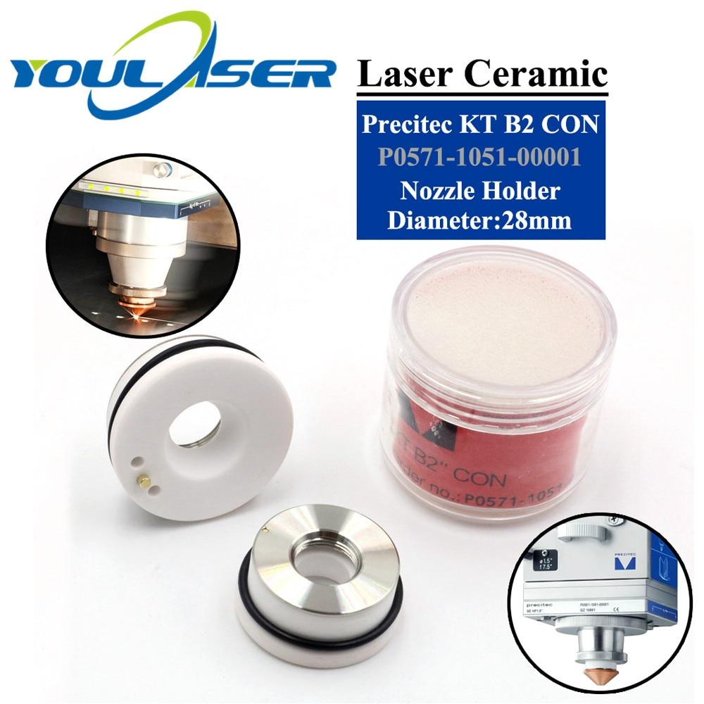 Laser Ceramic 28mm/24.5mm OEM Precitec Lasermech KT B2 CON P0571-1051-00001 Nozzle Holder For Fiber Laser Cutting Head