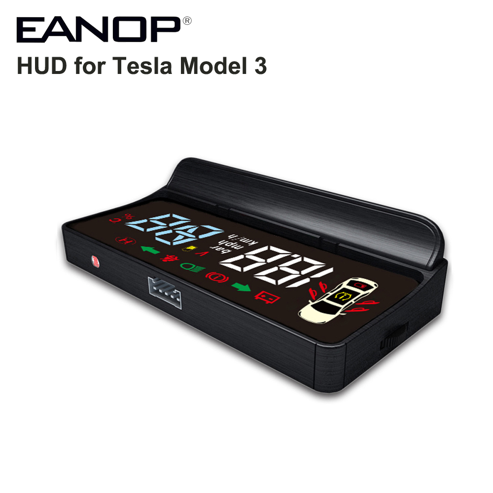 EANOP HUD E100 Head up display Speed Turning light Gear Projector for Tesla Model 3