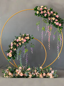 Shelf Ring-Arch Flower-Stand Wedding-Props Wrought-Iron Round Birthday-Party Celebration