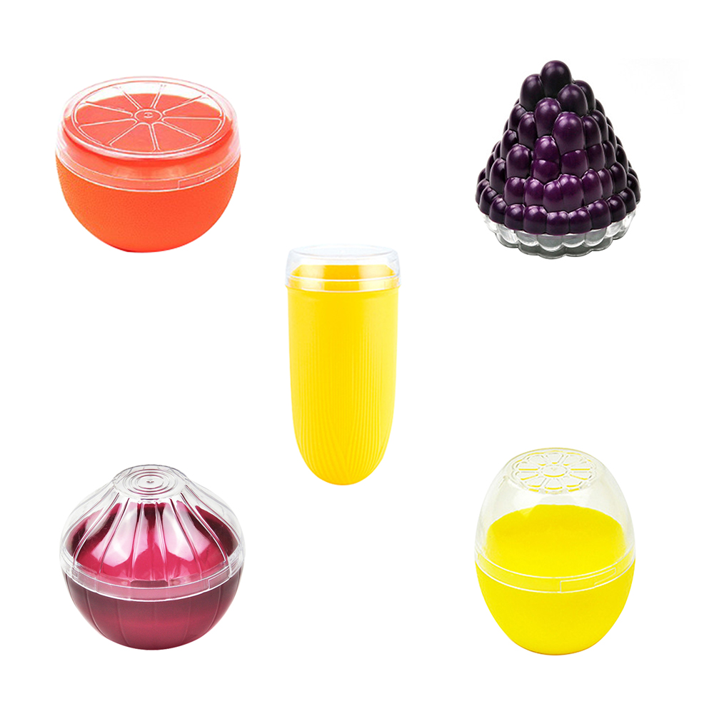 Mini Cute Vegetable Sealing Box Fruits Crisper Food Containers Onion Lemon Tomatoes Portable Preservation Box Container Storage