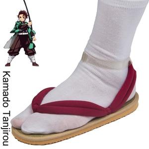 Image 2 - Japanese Anime Demon Slayer Kimetsu No Yaiba Cosplay Shoes Tanjirou Sandals Kamado Nezuko Geta Clogs Agatsuma Zenitsu Flip Flops