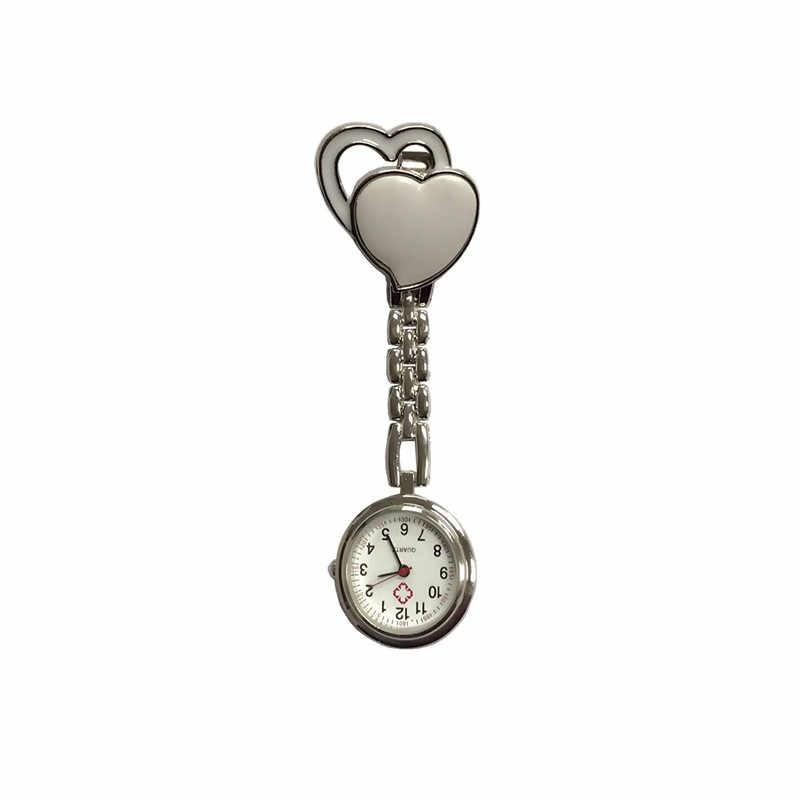 Saku Dokter Perawat Menonton New Dada Manis Hangat Kuarsa Meja Kuarsa Rantai Paduan Bros Pocket Jam Tangan dengan Klip hadiah