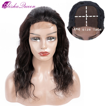 Aisha Queen 4x4 Lace Closure Wig Body Wavy Human Hair 130% Density Lace Wigs Natural Color Non-remy Peruvian Hair 10-22 inch