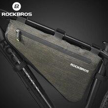 Водонепроницаемая велосипедная сумка ROCKBROS, вместительная треугольная сумочка на раму для горных велосипедов, герметичная, сумка на багажник, аксессуары
