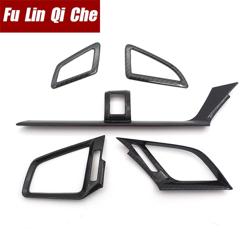 Garnish Trim Front Air A/C Condition Outlet Vent hoods frame stick cover For Honda civic 2016 2017 2018 2019 right hand drive
