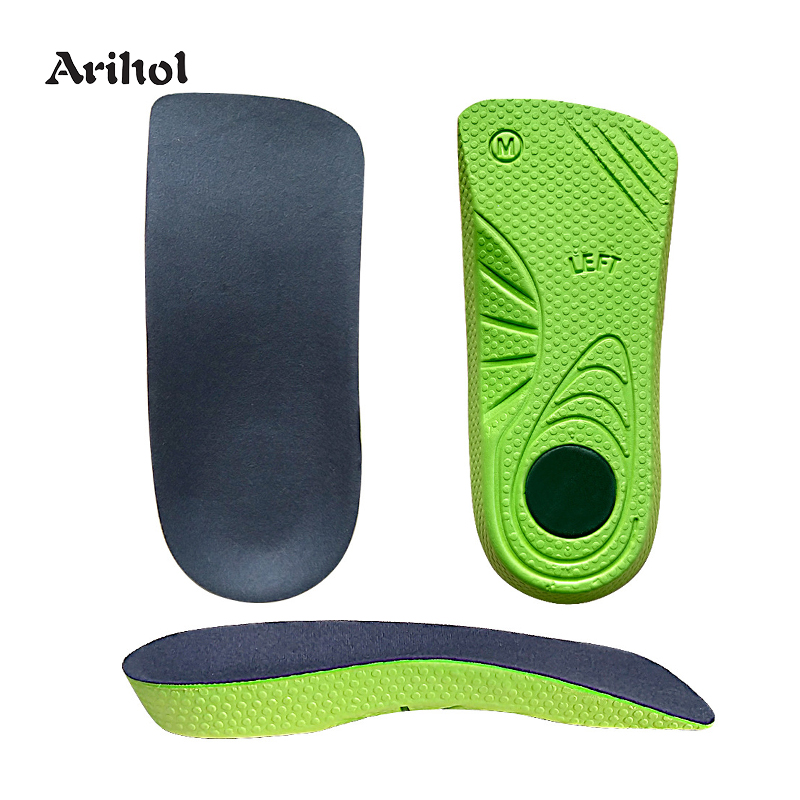 Shoe Insole Half Length Arch Support Orthotics Insoles For Flat Feet O/X Leg Men Women Cushioning Shoes Sole Pad Heel Protector