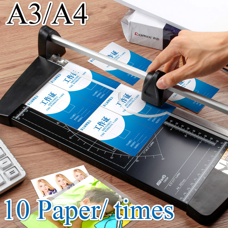 Portable Alloy A4 A3 Precision Paper Cutter Photo Trimmers Diy Scrapbook Cut Tools Cutting Mat Board Home Office Supplies